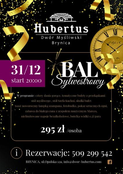 Bal Sylwestrowy 2019/20 Dwor Hubertus Opole-Brynica